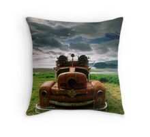 Rusty Fire Truck Throw Pillow