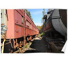 Old Retired Train Wagons  Poster