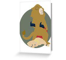 Cowardly Lion...Tamer Greeting Card