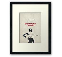 Breakfast at Tiffany's minimalist poster Framed Print