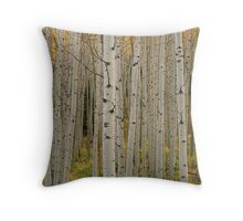 Aspen Grove In Fall, Kebler Pass Throw Pillow
