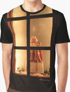Little Antique Santa in the Window Graphic T-Shirt
