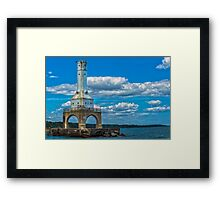 Port Lighthouse Luminance Framed Print