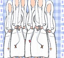 Nuns Greeting Card (blank inside by gailg1957