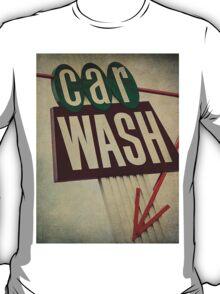 Vintage Car Wash Sign  T-Shirt