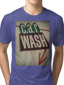 Vintage Car Wash Sign  Tri-blend T-Shirt
