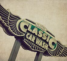 Flying Wings Classic Car Wash Sign by Honey Malek