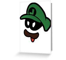 Mr. L  (Evil Luigi) Greeting Card