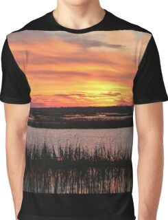 Sky Over The Marsh Graphic T-Shirt