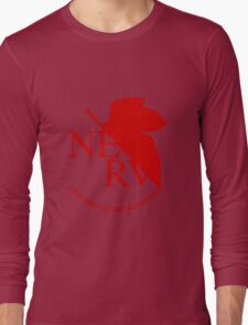 NERV Red Logo Long Sleeve T-Shirt