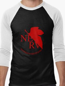 NERV Red Logo Men's Baseball ¾ T-Shirt