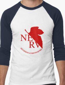 NERV Red Logo Men's Baseball ¾ T-Shirt