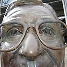 Looking Into the Eyes of the Joe Paterno Statue by clizzio