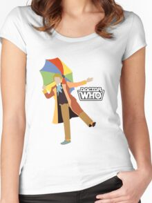 The Sixth Doctor Women's Fitted Scoop T-Shirt