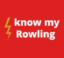 Know My Rowling Baby Tee