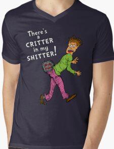 Critter in my Sh*tter Mens V-Neck T-Shirt