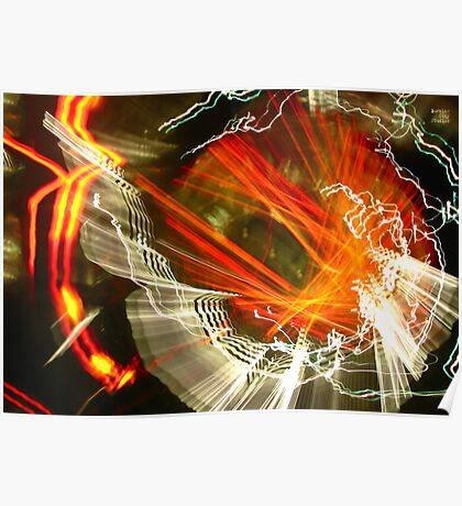 Idea + Light + Time = Art E Poster