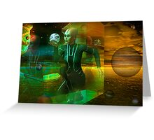 holographic universe Greeting Card