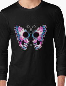 Sugar Skull Butterfly Tattoo Flash Long Sleeve T-Shirt