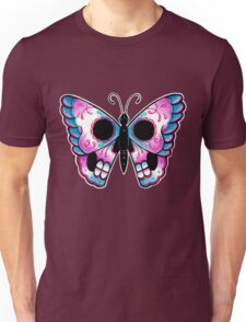 Sugar Skull Butterfly Tattoo Flash Unisex T-Shirt