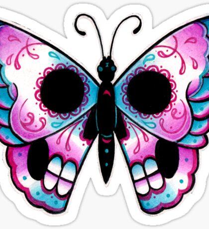 Sugar Skull Butterfly Tattoo Flash Sticker