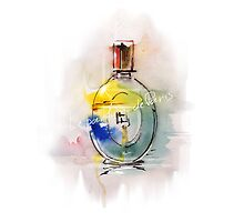 a beautiful bottle of perfume by Teni