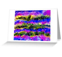 Lavander Field Abstract Background Greeting Card