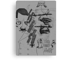Historical Hitler Horror Canvas Print