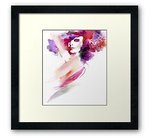Fashion Art Portrait Of Beautiful Girl  Framed Print