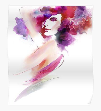 Fashion Art Portrait Of Beautiful Girl  Poster