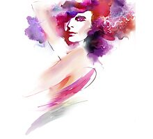 Fashion Art Portrait Of Beautiful Girl  Photographic Print