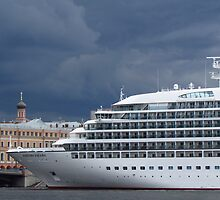 Seabourn Sojourn Berthed Beneath Stormy Skies by M-EK