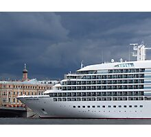 Seabourn Sojourn Berthed Beneath Stormy Skies Photographic Print