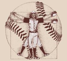 Vitruvian Baseball Player (Natural Tones) T-Shirt