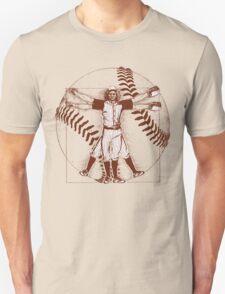 Vitruvian Baseball Player (Natural Tones) Unisex T-Shirt