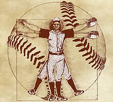 Vitruvian Baseball Player (Natural Tones) by KAMonkey