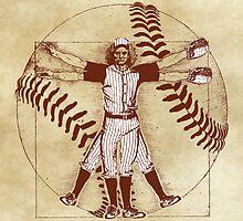 Vitruvian Baseball Player (Natural Tones) by KAMonkey