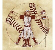 Vitruvian Baseball Player (Natural Tones) Photographic Print