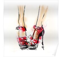 Fashion shoes . Summer style.  Poster