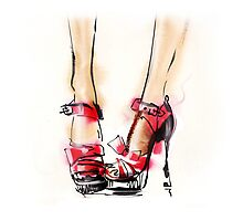 Fashion shoes . Summer style.  Photographic Print