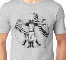 Vitruvian Baseball Player (B&W Tones) Unisex T-Shirt