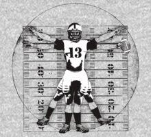 Vitruvian Football Player (B&W Tones) Kids Clothes
