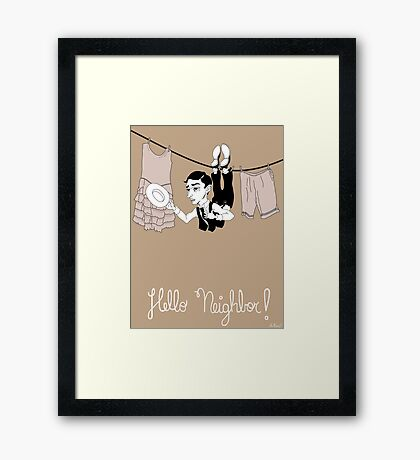 Buster Keaton Hello Neighbor! cartoon Framed Print