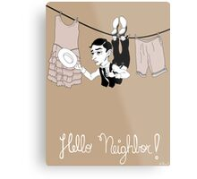 Buster Keaton Hello Neighbor! cartoon Metal Print