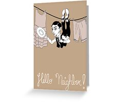 Buster Keaton Hello Neighbor! cartoon Greeting Card