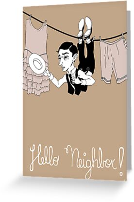 Buster Keaton Hello Neighbor! cartoon by anamenendezf