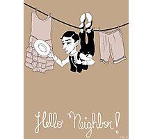 Buster Keaton Hello Neighbor! cartoon Photographic Print