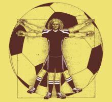 Vitruvian Soccer Player (Natural Tones) Kids Clothes