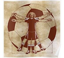 Vitruvian Soccer Player (Natural Tones) Poster