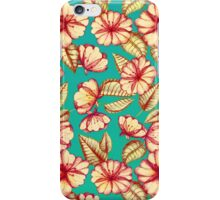Rust & Teal Floral Pattern iPhone Case/Skin